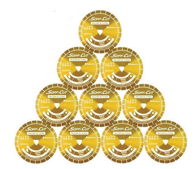 Husqvarna Excel 5000 10 Yellow Soff Cut Ultra Early Entry Diamond Blade 10pk