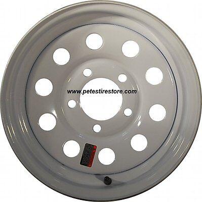 Greenball White 5 Lug Trailer Wheel 15x5