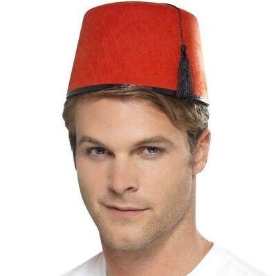 Fez Fancy Dress Hat & Tassle Tommy Cooper Stavros Red/Black New by (Fez Fancy Dress Kostüm)