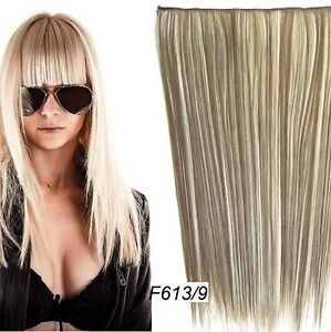 """CLIP IN ON HAIR EXTENSION CLIP,24"""", 60 CM,STRAIGH,Like REAL HAIR Regina Regina Area image 7"""