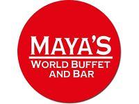 Kitchen staff required at Maya's World Buffet