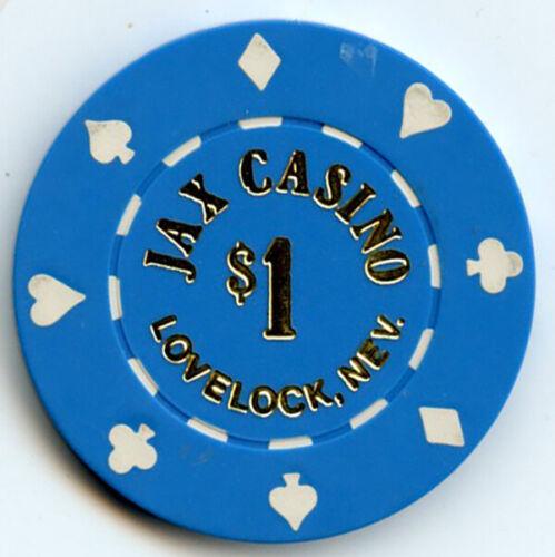 Jax Casino, Lovelock, NV - [TWO CHIPS] - $1 & $5 Chips -1980