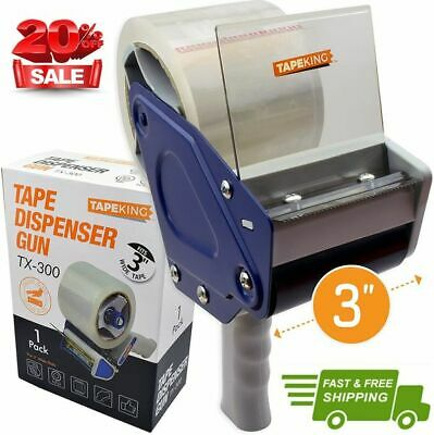Tape King Tx300 3 Inch Wide Packing Tape Dispenser Gun - Plus 1 Free Roll Of ...