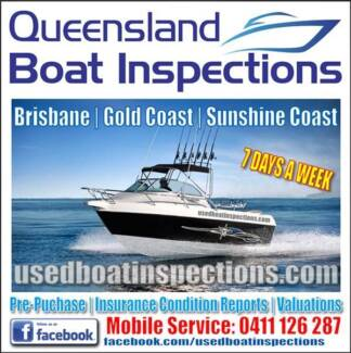 MOBILE BOAT INSPECTIONS / CONDITION REPORTS BRISBANE & GOLD COAST