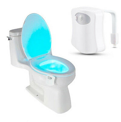 8-Color LED Motion Sensing Automatic Toilet Night Light