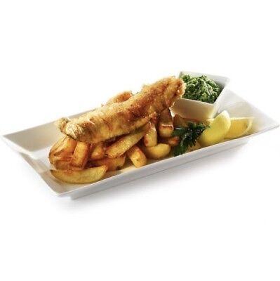 - Pure White Rectangular Dinner Plate 30cm 12