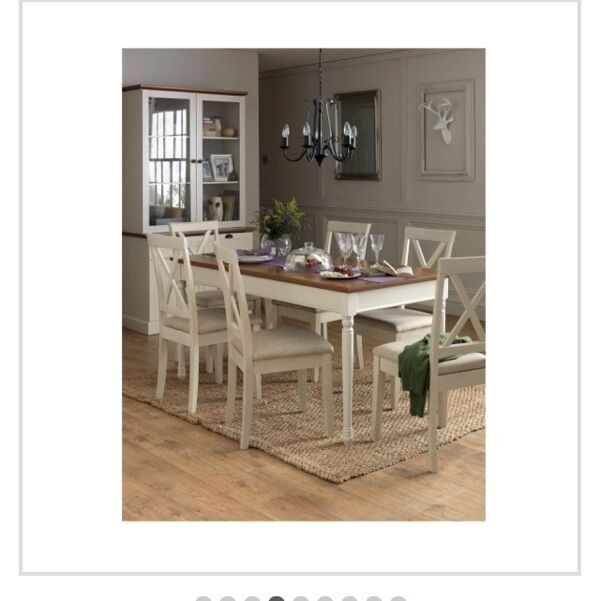 Heart Of House Ellingham Dining Table 6 Chairs