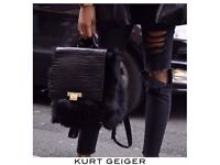 Charlie KURT GEIGER backpack - limited edition (real fur and leather)
