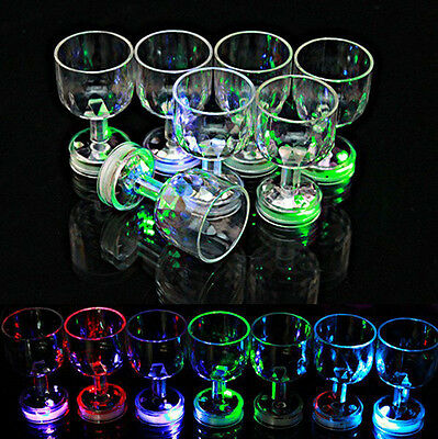Utility Distinctive Flashing Led Wine Glass Light Up Barware Drink Cup HI - Flashing Wine Glass