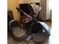icandy peach 2 travel system in silver mint