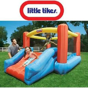 NEW LITTLE TIKES JUNIOR JUMP N PLAY INFLATABLE  BOUNCER - COMES W/ CARRYING BAG, STAKES, BLOWER, AND PATCH KIT