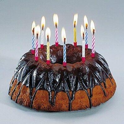 10 Magische Kerzen mit Halter Torten-, Geburtstags-, Scherz Kerzen