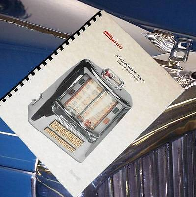 SEEBURG WALL O MATIC 200 Jukebox Service MANUAL for sale  Shipping to Canada