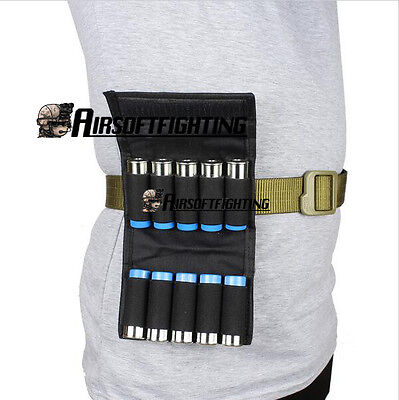 Tactical Hunting 10 Rounds Ammo Shotgun Shell Holder Carrier Mag Pouch 12 Gauge 10 Gauge Shotgun Ammo