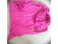 Topshop tie sleeve jumper size 10