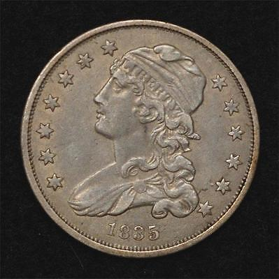 1835 Capped Bust Quarter:  XF, scarce this nice, great Type coin