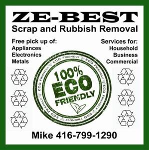 Scrap and Rubbish Recycling Services-100% & Eco Friendly