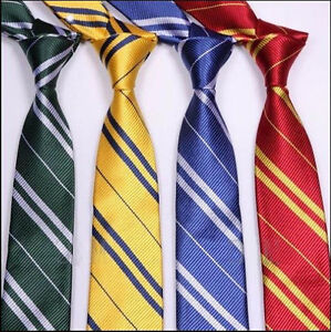 Harry-Potter-Tie-Gryffindor-Slytherin-Hufflepuff-Ravenclaw-Cosplay-Costume-Ties