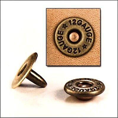 30 Pack of SHOTGUN SHELL RIVETS 1388-01 Tandy Leather Craft Shot Gun Rifle Rivet