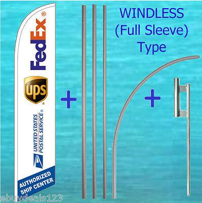 Ship Center Windless Feather Flag 15 Tall Pole Mount Kit Swooper Flutter 3066