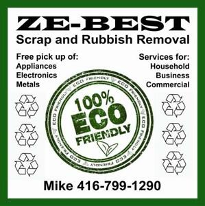 Scrap Metal and Rubbish Recycling Services-100%  Eco Friendly