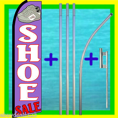Shoe Sale Swooper Flag 15 Tall Pole Mount Feather Flutter Bow Banner