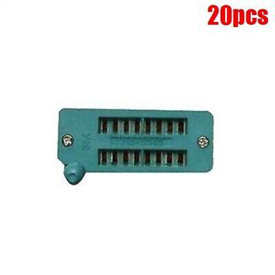 20pcs New 16 Pin Gold Plated Universal Zif Dip Tester Ic Test Socket Pf