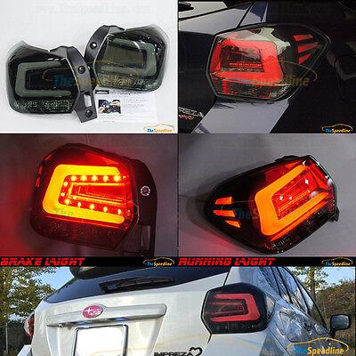 11 12 13 14 15 SUBARU XV CROSSTREK Impreza Sport Wagon HB SMOKE LED TAIL LIGHTS