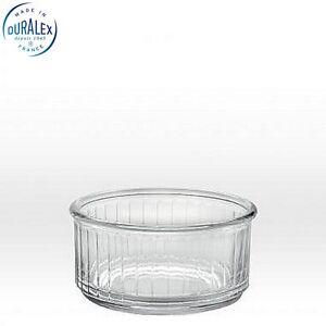 Duralex Ramequin Ramekin 3 3/8'' 8.5cm Clear Set of 4  Dinning Kitchen Home New