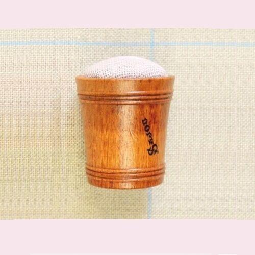 SAJOU Hornbeam Wooden Pincushion with Pins - Pink