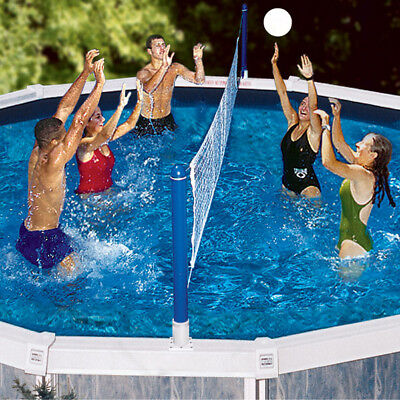 Swimline Jammin Cross Pool Above Ground Swimming Pool Volleyball Game