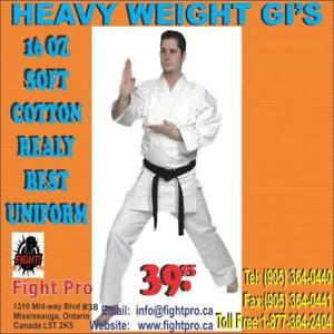 HEAVY WEIGHT UNIFORM, 16OZ CANVAS BRUSH COTTON, 100 COTTON, (905) 364-0440 WWW.FIGHTPRO.CA