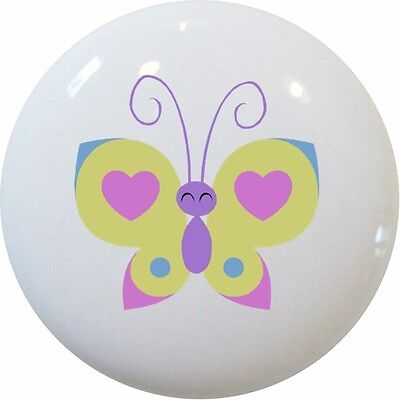 Heart BUTTERFLY Cabinet DRAWER Pull KNOB - Butterfly Drawer Pull Knob