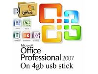 Microsoft Office Professional Plus 2007 on Usb or Cd (PRE ACTIVATED)