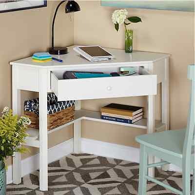 Corner Desk Pale-complexioned Kids Teen Room Dorm Space Saver Art Computer Workstation NEW