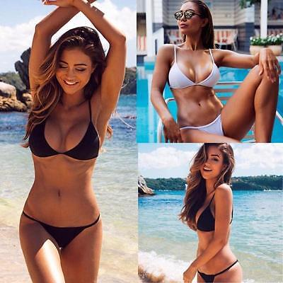 Women  Push-Up Bikini Set Bandeau Padded Swimsuit Beachwear Swimwear Bra