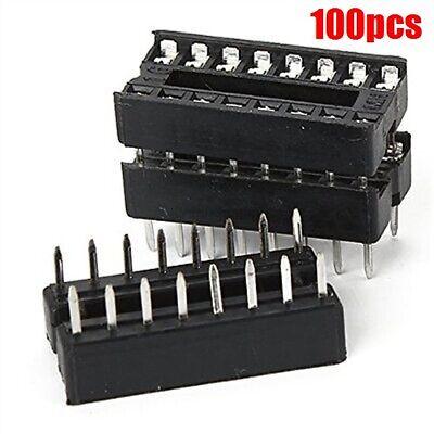 100pcs 16pin Dip Socket Adaptor Solder Type Socket Pitch Dual Wipe Contact Ey