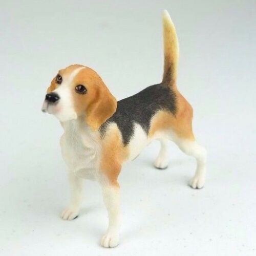 "Beagle Dog in White & Red - Collectible Figurine Miniature 4""L New"