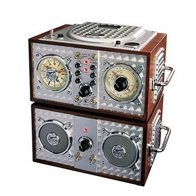 NEW POLYCONCEPTS Spirit Of St. Louis Wooden Alarm Clock Cd Radio 841673