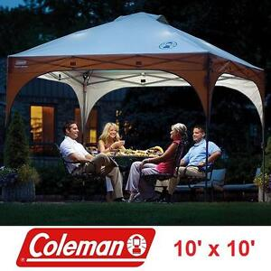 NEW COLEMAN INSTANT CANOPY 10' x 10' CAMPING CANOPIES AND SHELTER WITH LED LIGHT TENT TENTS SHADE POP UP 106333187
