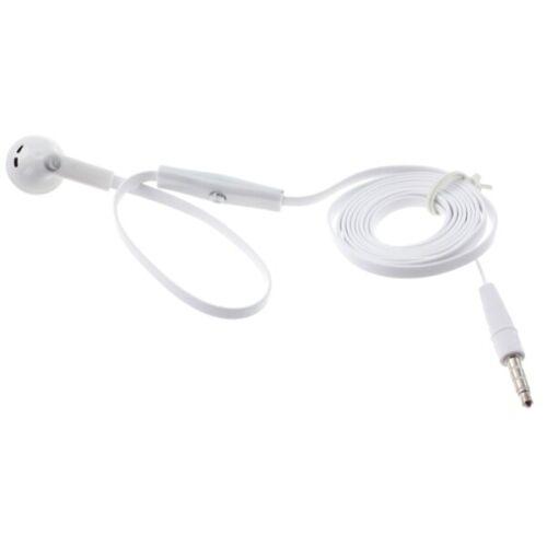 Flat Wired Headset MONO Hands-free Earphone w Mic Single Ear
