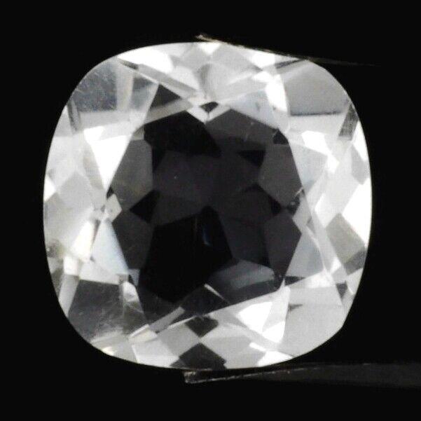 DIAMOND QUARTZ 12 MM CUSHION CUT ALL NATURAL F-2967