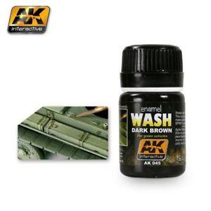 AK Interactive Weathering - Dark Brown Wash 35ml - 60045