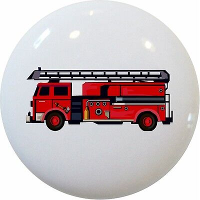 - FIRE Engine TRUCK Cabinet DRAWER Pull KNOB Ceramic