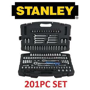 NEW 201PC STANLEY MECHANIC TOOL SET MECHANICS TOOL SET 110262105