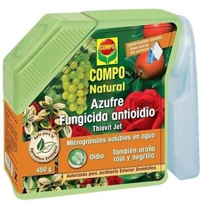 FUNGICIDA AZUFRE ANTIOIDIO 400 GRAMOS Plantas Jardín y Mascotas