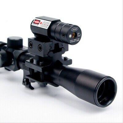 4x20 Air Gun Rifle Optics Scope Tactical Riflescope +Mounts +Red Dot Laser Sight