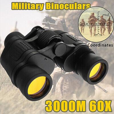 Binocolo visione notturna 60x60 HD 3000M A caccia Campeggio Telescopio Militare