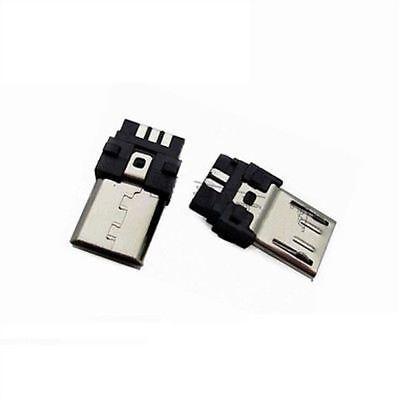 5 Pcs 5pin Smt Socket Port Male Type B Pcb Board Micro Usb Jack Connectors Ic Zq