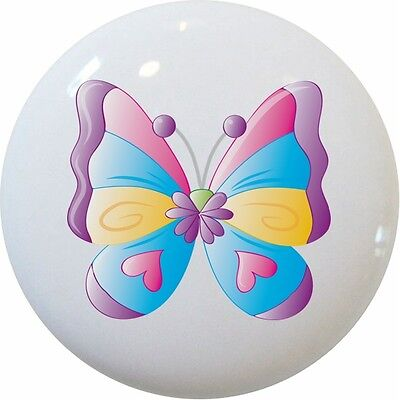 Kid's BUTTERFLY Butterflies Cabinet Dresser DRAWER Pull - Butterfly Drawer Pull Knob